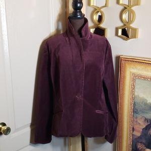 Tommy Hilfiger size 18 blazer velvet purple